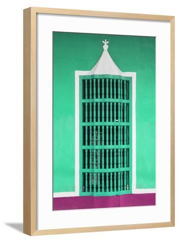 Cuba Fuerte Collection - Coral Green Window-Philippe Hugonnard-Framed Art Print