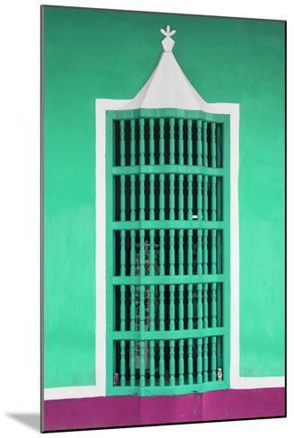 Cuba Fuerte Collection - Coral Green Window-Philippe Hugonnard-Mounted Photographic Print