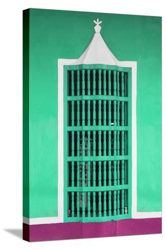 Cuba Fuerte Collection - Coral Green Window-Philippe Hugonnard-Stretched Canvas Print
