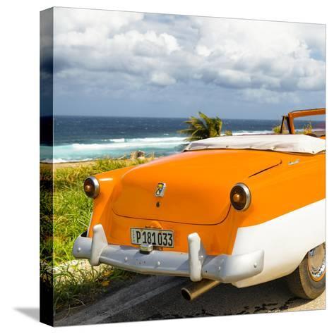 Cuba Fuerte Collection SQ - Classic Orange Car Cabriolet-Philippe Hugonnard-Stretched Canvas Print
