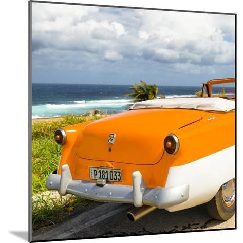 Cuba Fuerte Collection SQ - Classic Orange Car Cabriolet-Philippe Hugonnard-Mounted Photographic Print