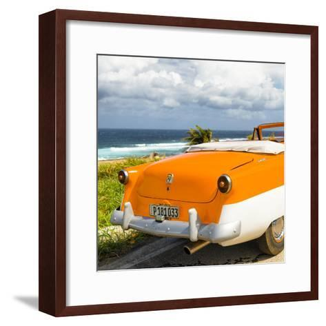 Cuba Fuerte Collection SQ - Classic Orange Car Cabriolet-Philippe Hugonnard-Framed Art Print