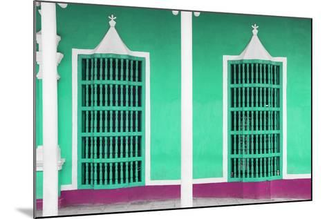 Cuba Fuerte Collection - Coral Green Facade-Philippe Hugonnard-Mounted Photographic Print