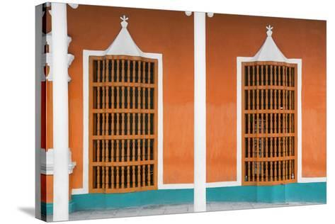 Cuba Fuerte Collection - Orange Facade-Philippe Hugonnard-Stretched Canvas Print