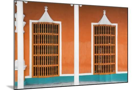 Cuba Fuerte Collection - Orange Facade-Philippe Hugonnard-Mounted Photographic Print