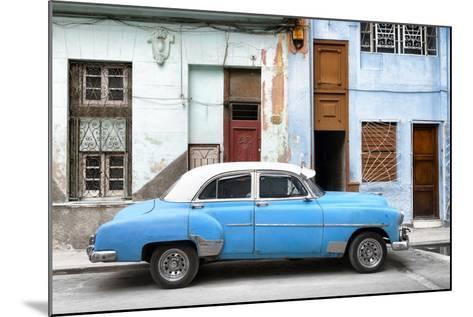 Cuba Fuerte Collection - Havana's Blue Vintage Car-Philippe Hugonnard-Mounted Photographic Print