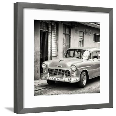 Cuba Fuerte Collection SQ BW - Classic American Car in Havana-Philippe Hugonnard-Framed Art Print