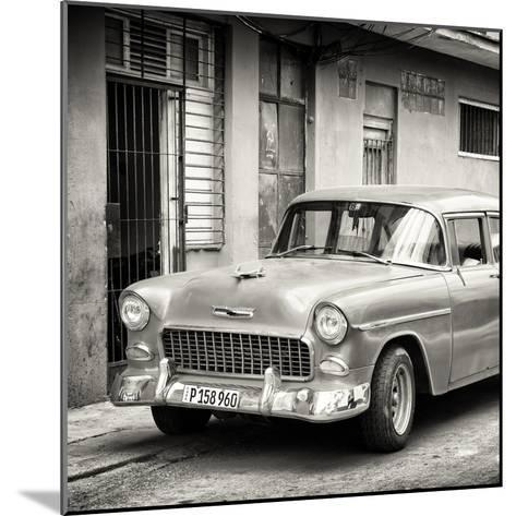 Cuba Fuerte Collection SQ BW - Classic American Car in Havana-Philippe Hugonnard-Mounted Photographic Print