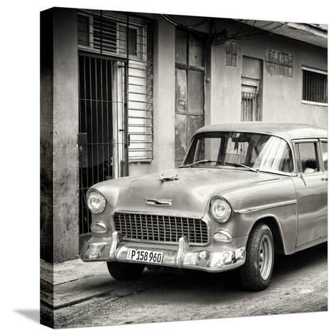 Cuba Fuerte Collection SQ BW - Classic American Car in Havana-Philippe Hugonnard-Stretched Canvas Print