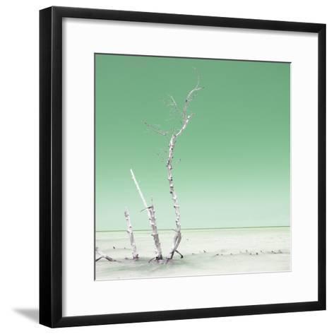 Cuba Fuerte Collection SQ - Ocean Nature - Pastel Green-Philippe Hugonnard-Framed Art Print