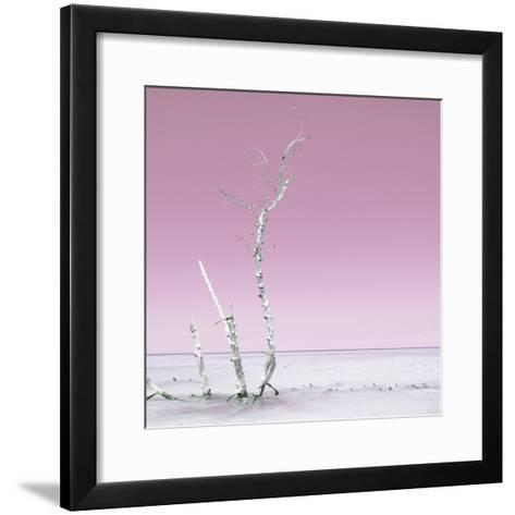 Cuba Fuerte Collection SQ - Ocean Nature - Pastel Pink-Philippe Hugonnard-Framed Art Print