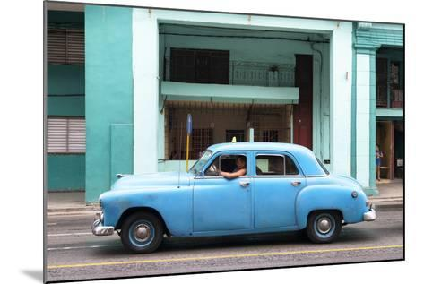 Cuba Fuerte Collection - Blue Taxi Car-Philippe Hugonnard-Mounted Photographic Print