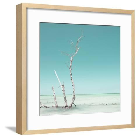 Cuba Fuerte Collection SQ - Ocean Nature - Pastel Aquamarine-Philippe Hugonnard-Framed Art Print
