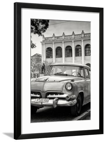 Cuba Fuerte Collection B&W - Cuban Classic Car III-Philippe Hugonnard-Framed Art Print