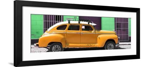 Cuba Fuerte Collection Panoramic - Orange Vintage Car-Philippe Hugonnard-Framed Art Print