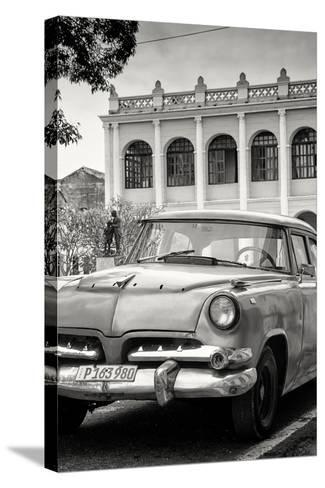 Cuba Fuerte Collection B&W - Cuban Classic Car III-Philippe Hugonnard-Stretched Canvas Print