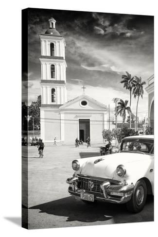 Cuba Fuerte Collection B&W - Iglesia San Juan Bautista de Remedios-Philippe Hugonnard-Stretched Canvas Print
