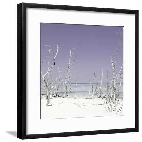 Cuba Fuerte Collection SQ - Wild Beach - Pastel Purple-Philippe Hugonnard-Framed Art Print