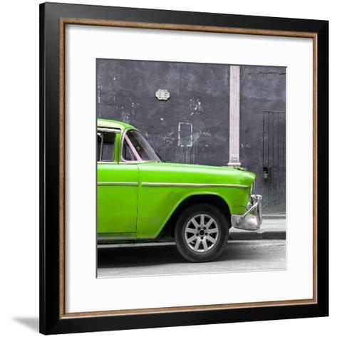 Cuba Fuerte Collection SQ - 615 Street and Green Car-Philippe Hugonnard-Framed Art Print