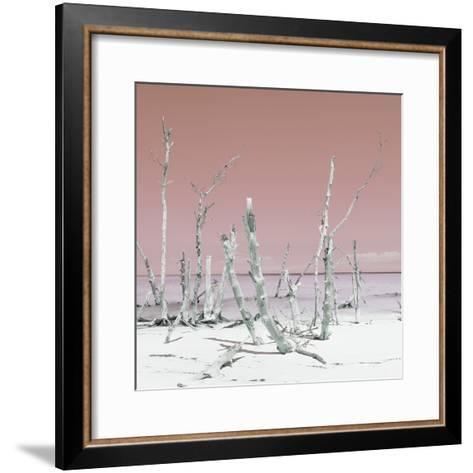 Cuba Fuerte Collection SQ - Wild Ocean - Pastel Red-Philippe Hugonnard-Framed Art Print
