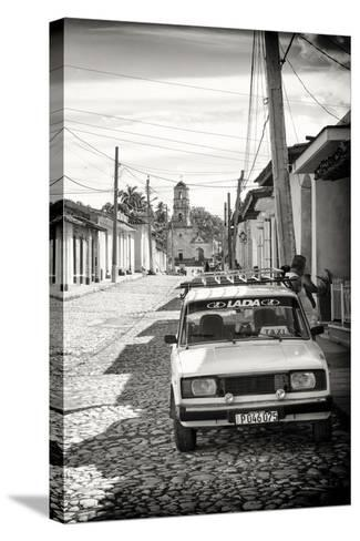 Cuba Fuerte Collection B&W - Lada Taxi in Trinidad III-Philippe Hugonnard-Stretched Canvas Print