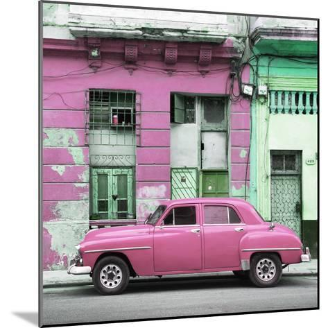 Cuba Fuerte Collection SQ - Pink Vintage American Car in Havana-Philippe Hugonnard-Mounted Photographic Print