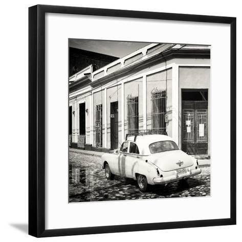 Cuba Fuerte Collection SQ BW - Cuban Street Scene-Philippe Hugonnard-Framed Art Print