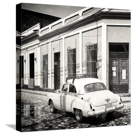 Cuba Fuerte Collection SQ BW - Cuban Street Scene-Philippe Hugonnard-Stretched Canvas Print