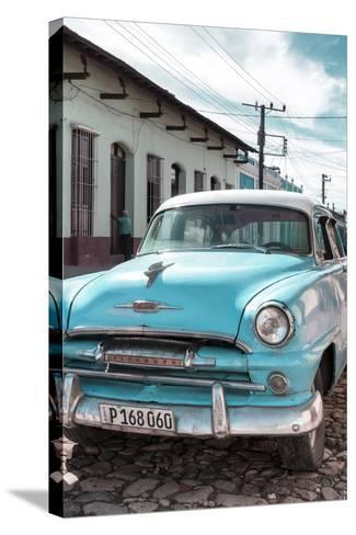 Cuba Fuerte Collection - Plymouth Classic Car IV-Philippe Hugonnard-Stretched Canvas Print