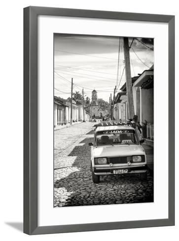 Cuba Fuerte Collection B&W - Lada Taxi in Trinidad III-Philippe Hugonnard-Framed Art Print
