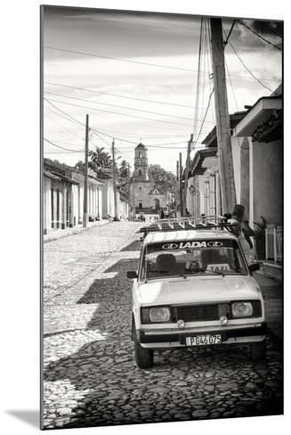 Cuba Fuerte Collection B&W - Lada Taxi in Trinidad III-Philippe Hugonnard-Mounted Photographic Print