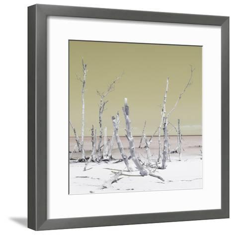 Cuba Fuerte Collection SQ - Wild Ocean - Pastel Yellow-Philippe Hugonnard-Framed Art Print