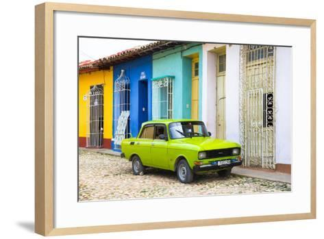 Cuba Fuerte Collection - Vintage Car in Trinidad-Philippe Hugonnard-Framed Art Print
