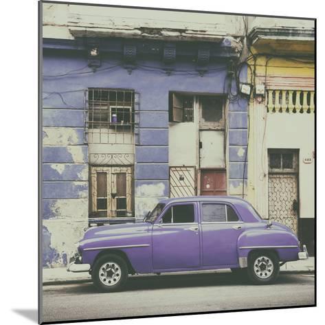 Cuba Fuerte Collection SQ - Purple Vintage American Car in Havana-Philippe Hugonnard-Mounted Photographic Print