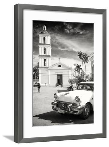Cuba Fuerte Collection B&W - Iglesia San Juan Bautista de Remedios-Philippe Hugonnard-Framed Art Print