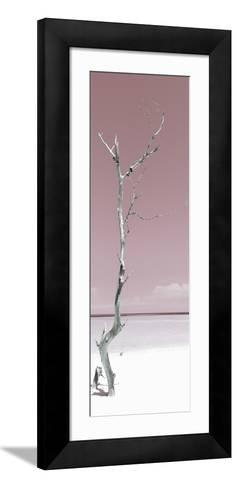 Cuba Fuerte Collection Panoramic - Solitary Tree - Pastel Red-Philippe Hugonnard-Framed Art Print