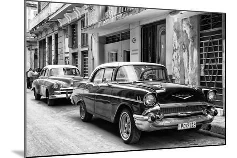Cuba Fuerte Collection B&W - Vintage Chevrolet Classic Car-Philippe Hugonnard-Mounted Photographic Print