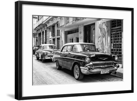 Cuba Fuerte Collection B&W - Vintage Chevrolet Classic Car-Philippe Hugonnard-Framed Art Print