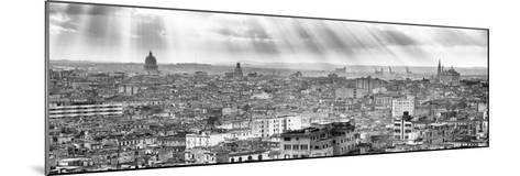 Cuba Fuerte Collection Panoramic BW - Rays of light on Havana II-Philippe Hugonnard-Mounted Photographic Print