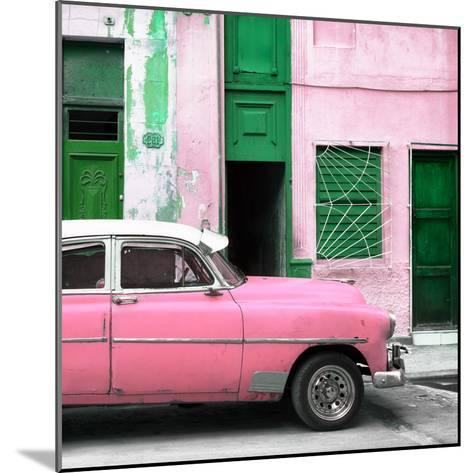 Cuba Fuerte Collection SQ - Havana's Pink Vintage Car-Philippe Hugonnard-Mounted Photographic Print