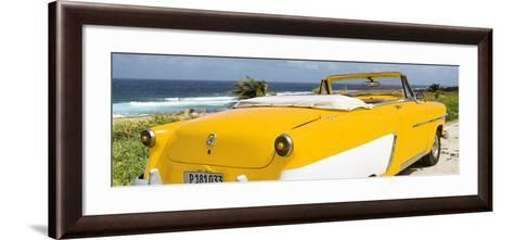 Cuba Fuerte Collection Panoramic - Yellow Cabriolet Classic Car-Philippe Hugonnard-Framed Art Print
