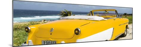 Cuba Fuerte Collection Panoramic - Yellow Cabriolet Classic Car-Philippe Hugonnard-Mounted Photographic Print