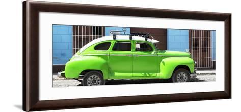 Cuba Fuerte Collection Panoramic - Green Vintage Car-Philippe Hugonnard-Framed Art Print