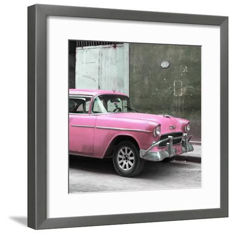 Cuba Fuerte Collection SQ - Pink Chevy-Philippe Hugonnard-Framed Art Print