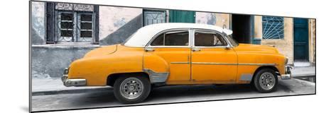 Cuba Fuerte Collection Panoramic - Havana's Orange Vintage Car-Philippe Hugonnard-Mounted Photographic Print