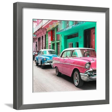 Cuba Fuerte Collection SQ - Old Cars Chevrolet Pink and Blue-Philippe Hugonnard-Framed Art Print