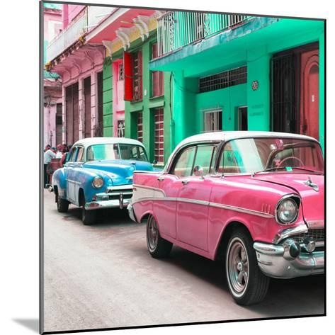 Cuba Fuerte Collection SQ - Old Cars Chevrolet Pink and Blue-Philippe Hugonnard-Mounted Photographic Print