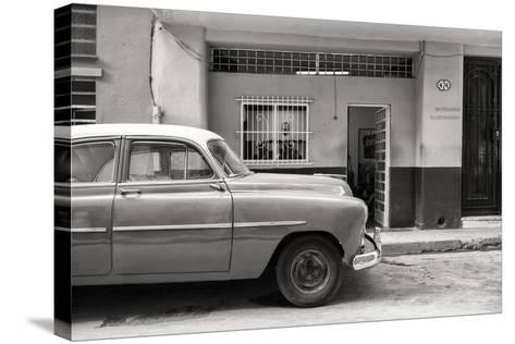 Cuba Fuerte Collection B&W - Vintage Classic American Car-Philippe Hugonnard-Stretched Canvas Print