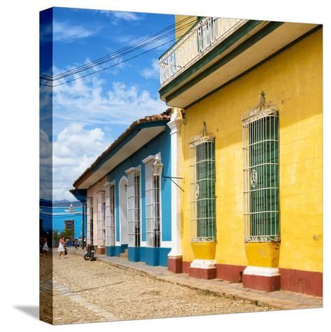 Cuba Fuerte Collection SQ - Colorful Facades in Trinidad-Philippe Hugonnard-Stretched Canvas Print