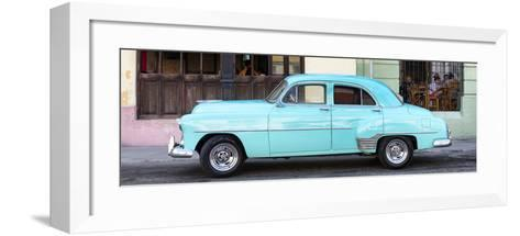 Cuba Fuerte Collection Panoramic - Havana Club and Blue Classic Car-Philippe Hugonnard-Framed Art Print